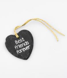 Natuursteen hart best friends forever