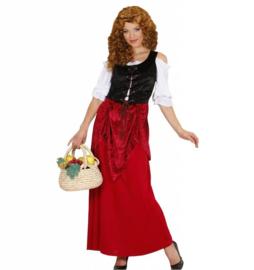 Middeleeuwse boerin jurk