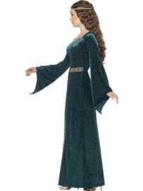Middeleeuwse meid jurk groen