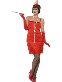 Flapper jurkje rood