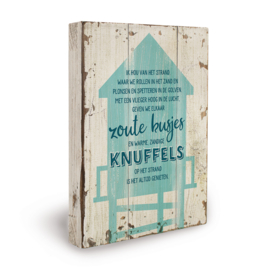Houten beach bord knuffels