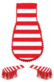 Schouder epaulette rood/wit