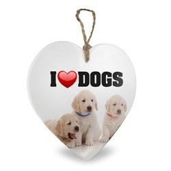 I love Dogs | Stenen deco hart