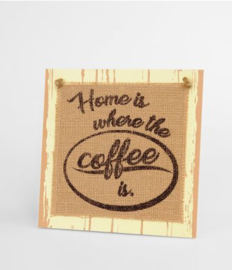 Wooden sign - Home is where the heart is |