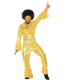 Disco abba kostuum goud