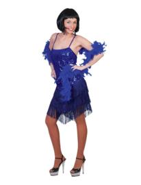 Flapper jurkje fringie blauw