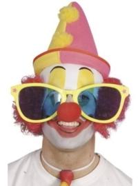 Reuze zonnebril clown