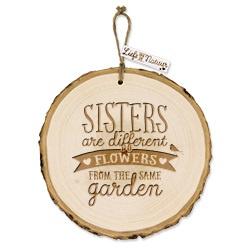Boomschijf decoratie - Sisters  