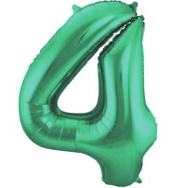 Folieballon 4 mat groen
