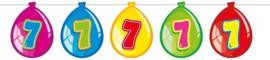 Vlaggenlijn ballonnen 7 jaar