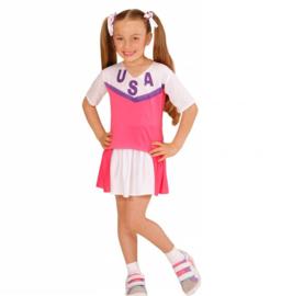 Cheerleaders jurkje pink