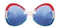 Zonnebril rood-wit-blauw groot model