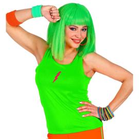 Tanktop neon groen vrouw