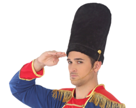 Engelse wachters hoed | zwart