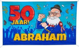 Gevelvlag 50 jaar Abraham