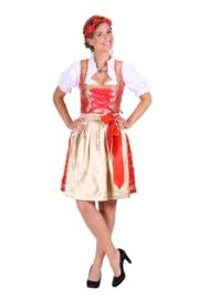 Dirndl jurk Viktoria rood OP=OP