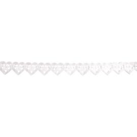 Papieren slinger trouwfiguur hart