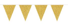 Vlaggenlijn glitter goud