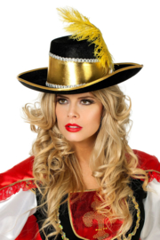 Musketiers hoed luxe goud