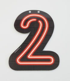 Neon cijfer 2