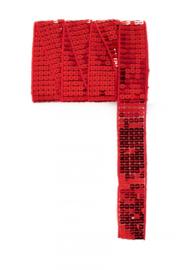 Paillettenband recht rood 3m