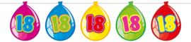 Vlaggenlijn ballonnen 18 jaar