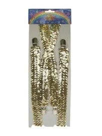 Bretels pailetten goud