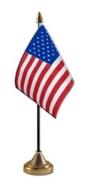 Tafelvlag Amerika goud
