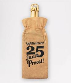Bottle gift bag - 25 jaar