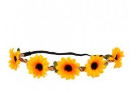 Hoofdband bloemen zonnebloem
