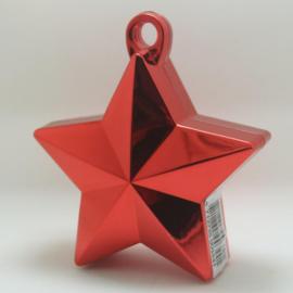 Star ballongewicht metallic rood