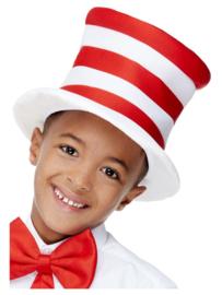Kinder hoed gestreept rood wit