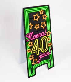 Waarschuwings bord Neon 40 jaar