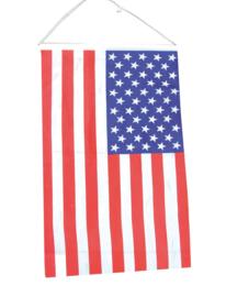 Hangende vlag Amerika 40x60cm