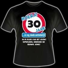 Fun T-shirt Hoera 30 jaar
