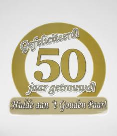 Huldebord / deurbord - 50 jaar getrouwd