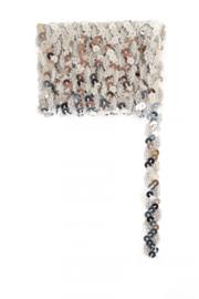Paillettenband golvend zilver 3m