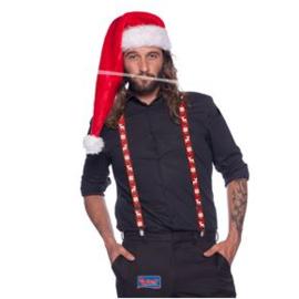 Kerstmis bretels rood