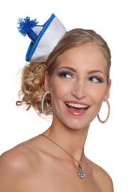 Mini navy hoedje blauw