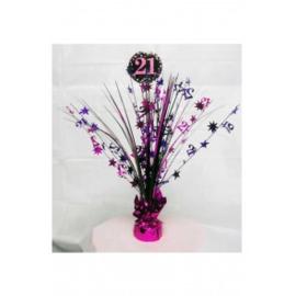 Tafel deco sparkling pink 21