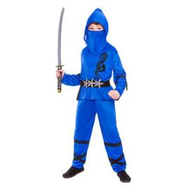 Power ninja kostuum blauw