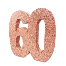 Tafeldecoratie 60 glitter rosegoud