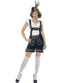 Luxe dames lederhose met top