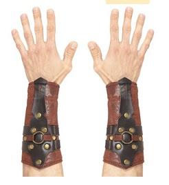Romeinse / griek lederlook armbedekking