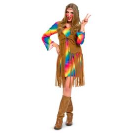 Hippie vrouw jurkje