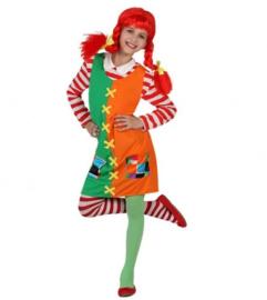 Pippi langkous jurkje meisje