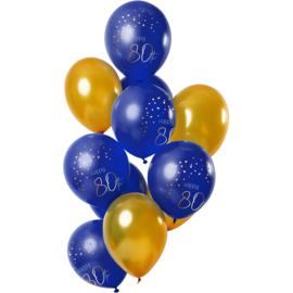Ballonnen Elegance true blue 80 jaar