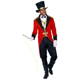 Circus directeur kostuum | ringmaster rood