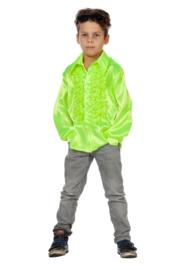 Disco shirt kinderen neon groen
