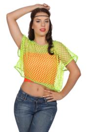 Netshirt kort Neon groen 80's